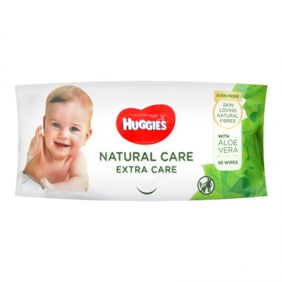 HUGGIES Baby vlhčené utierky Natural care - Extra Care- Aloe Vera 56ks